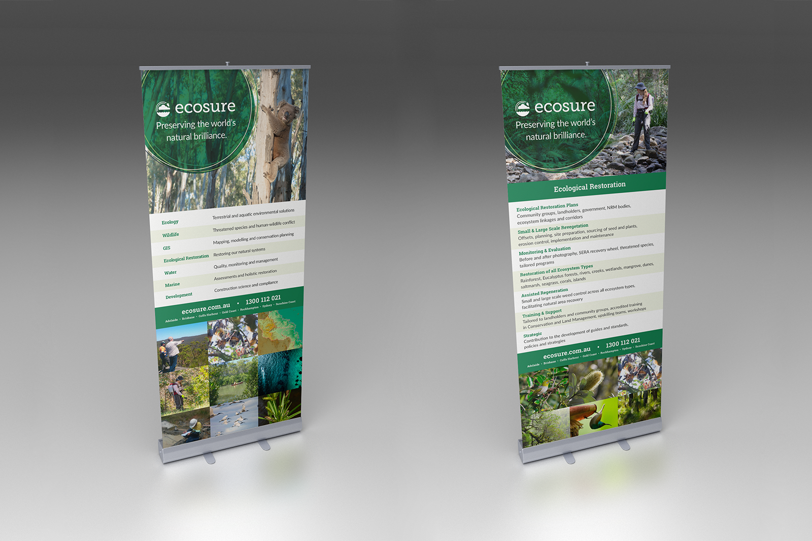 Ecosure, Ecosure Pull-up Banners, Ecosure Branding